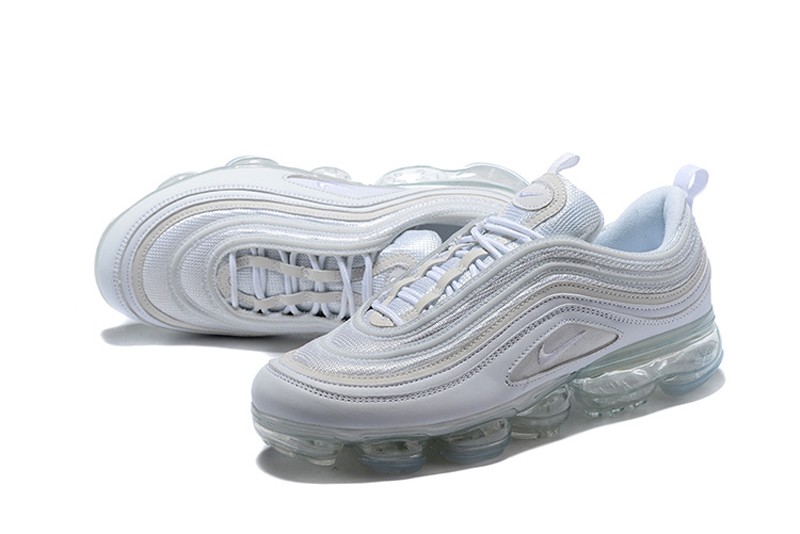 1534f748c56315 New Release Nike Air VaporMax 97 Silver Bullet All White Running ...