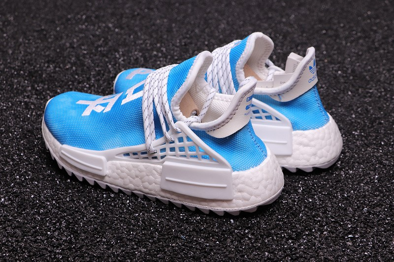 official photos c3a6e dc2ca New Style Pharrell X Adidas NMD Hu China Exclusive Peace Blue Running Shoes  F99763