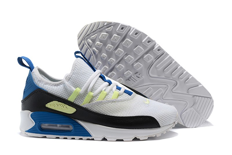 best loved 36463 1ccb6 New This Year Nike Air Max 90 EZ White/Black-Blue-Yellow Men's Fashion  Running Shoes