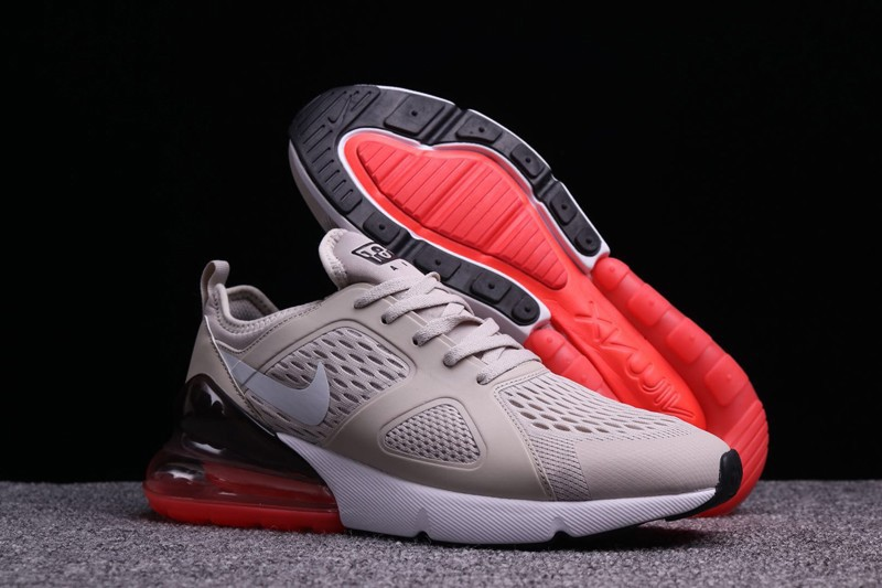 612eccef0f6 Nike Air Max 270 Beige Black Red White Men s New Running Shoes For ...