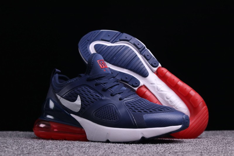 "88001723888bee Nike Air Max 270 ""Dark Blue-Red"" Men s Newest Running Shoes Free Shipping"