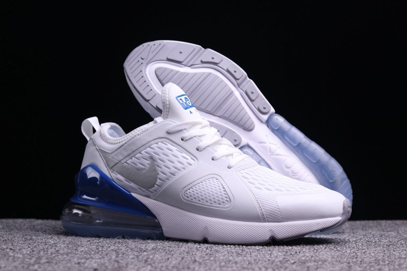 d4665dcb647807 Nike Air Max 270 White Sapphire Men s Newest Cushioning Running Shoes Free  Shipping