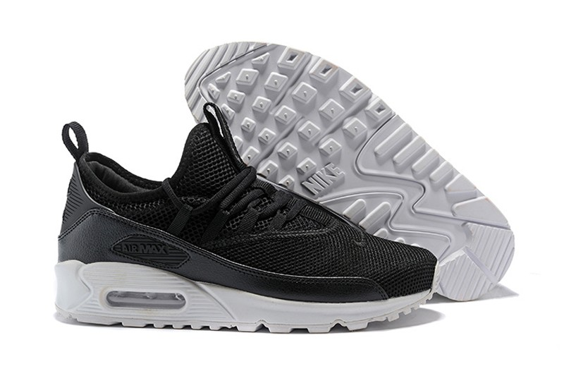 timeless design 0b9b2 983fc Nike Air Max 90 EZ Black White Men s Running Shoes AO1745-001 ...