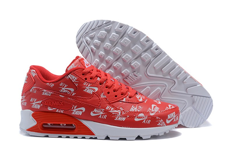 competitive price 0af5c 995fc Nike Air Max 90 Essential Red White Sneakers Men s-Women s Newest ...