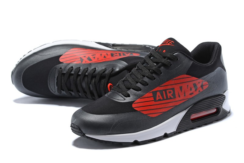 c0f2bffdc8952c Nike Air Max 90 NS GPX Black Glow White-Bright Crimson Men s Running ...