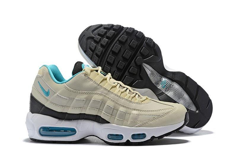 b19ba845d391 Nike Air Max 95 Essential 749766-027 Men s Light Bone Sport Turq ...