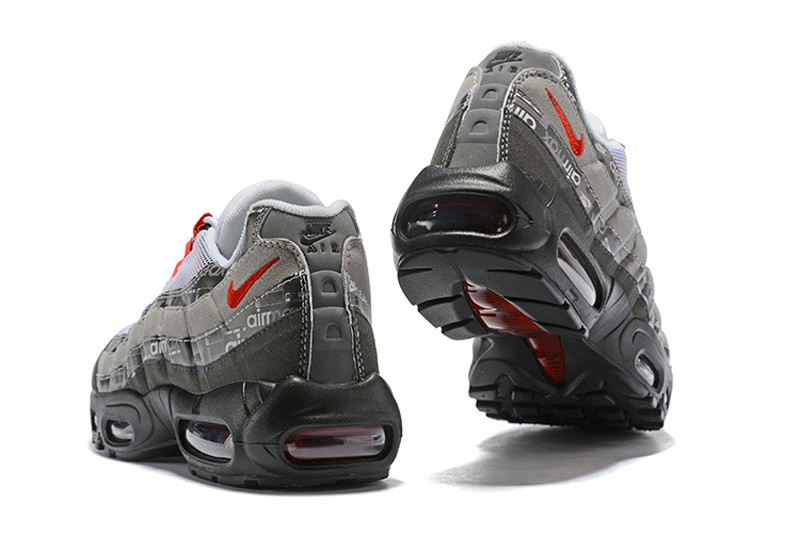 d9df3223af16 Atmos x Nike Air Max 95 We Love Nike Men s White Grey-Red Breathable ...