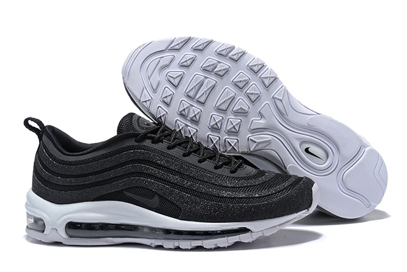 "a82f95effe6 Nike Air Max 97 LX ""Swarovski"" Men s-Women s Black Bullet Running Shoes ..."