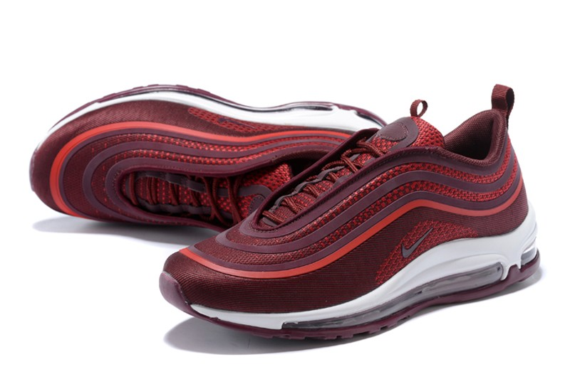 Nike Air Max 97 UL 17 Men s Noble Red Cushioning Running Shoes ... 51acf060f
