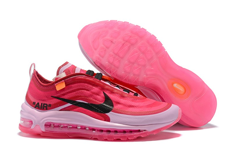 afab36b0e7e Nike WMNS Air Max 97 x OFF White Pink Light Powder-Black Beautiful ...