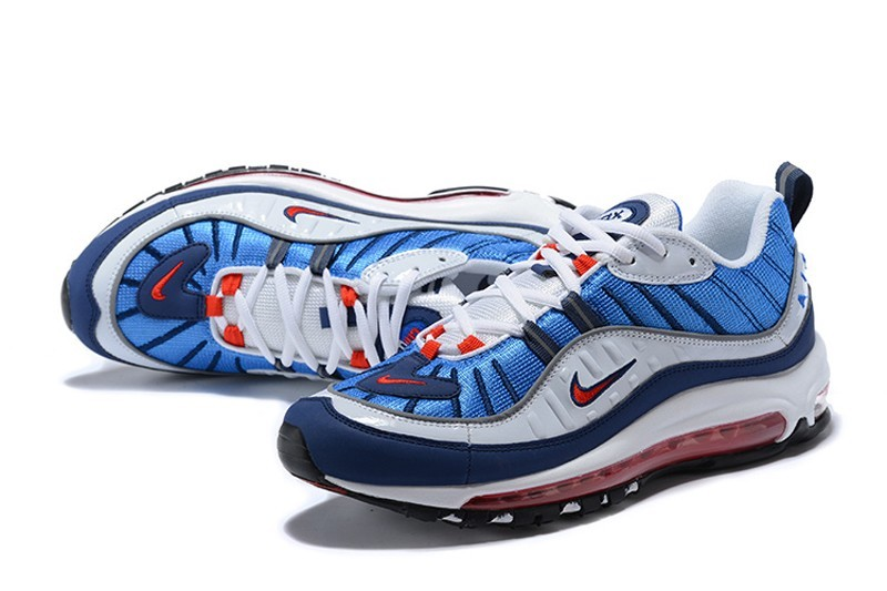 Nike Air Max 98 Royal Blue-Comet Red-Black White 640744-064 Running ... 988a6d90d