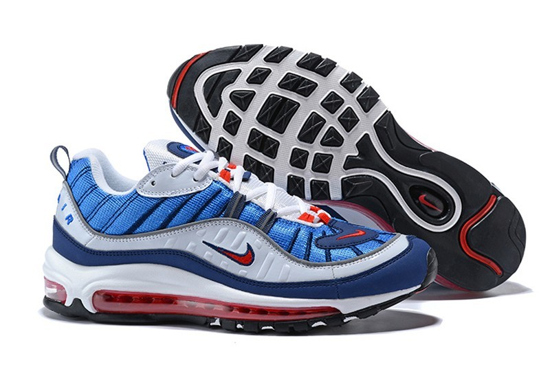 48cab5cdf9 Nike Air Max 98 Royal Blue-Comet Red-Black/White 640744-064 Running ...