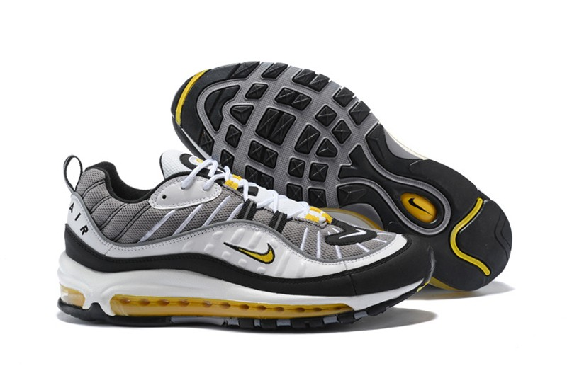 60b9e619a880 Nike Air Max 98 Tour Yellow Midnight Navy 640744-105 Men s Running Shoes ...