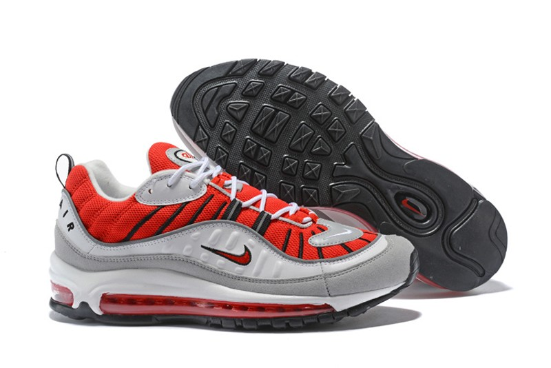 cheap for discount 4100d 22072 Nike Air Max 98 University Red/White 640744-600 Men's-Women's Running Shoes  In Stock
