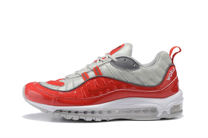 buy online 3478a 75141 Nike Air Max 98 x Supreme Red/Silver Cushioning Running Shoes 844694-600  Free Shipping
