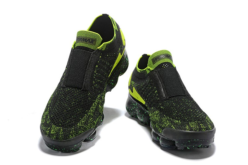"c8695b0bd69 Nike Air VaporMax Moc 2 Men s ""Black Volt-Green"" Breathable Running Shoes  AQ0996-007"