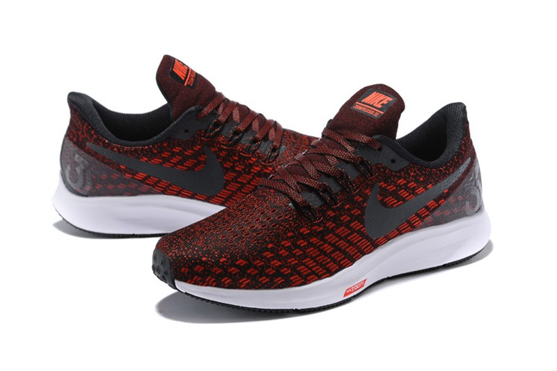 c3a9c5df49 Nike Air Zoom Pegasus 35 Men's Wine Red/Black Breathable Running Shoes Free  Shipping