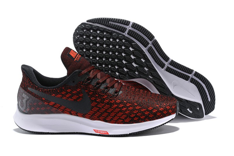 buy popular 1fc5a fea77 Nike Air Zoom Pegasus 35 Men's Wine Red/Black Breathable Running Shoes Free  Shipping