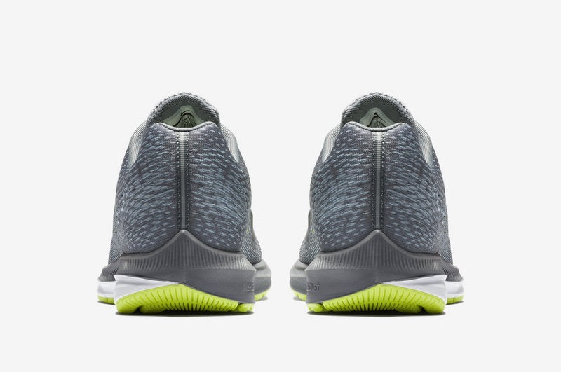 reputable site 462f6 9a1e9 Nike Air Zoom Winflo 5 AA7406-011 Men's Cool Grey/Vlot-Green Running Shoes  In Stock
