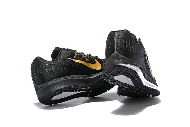 43ac3eaeafed1 Nike Air Zoom Winflo 5 Men s Black Gold New Arrival Breathable Running Shoes  ...