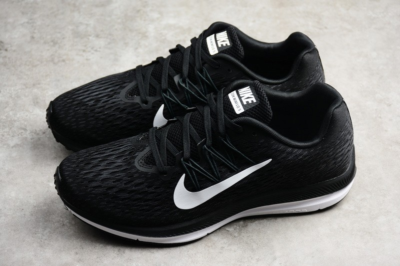 ea77bc54b5d54 Nike Air Zoom Winflo 5 Men s-Women s Black White Running Shoes ...