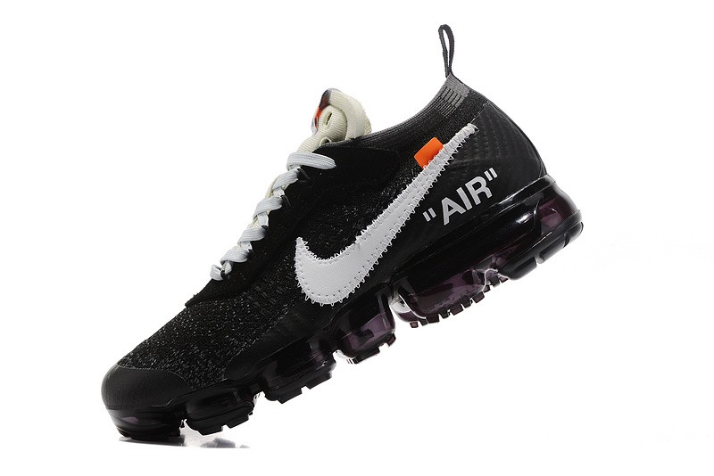 1f7cf1c3f0b0b Off-White x Nike Air VaporMax 2.0 Men's Black/White Breathable Running ...