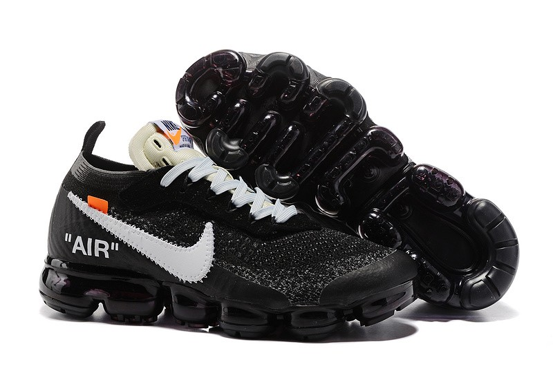 sports shoes 45771 e0522 Off-White x Nike Air VaporMax 2.0 Men's Black/White Breathable Running  Shoes AA3831-001