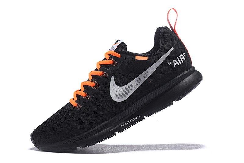 the latest 0a8c9 46530 Off-White x Nike Air Zoom Pegasus 34 Men's Black/Orange Running Shoes Hot  Sale