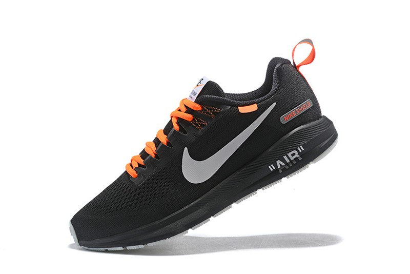 brand new bba68 50030 Off-White x Nike Air Zoom Structure 21 Black/Orange Men's Running Shoes  907324-008