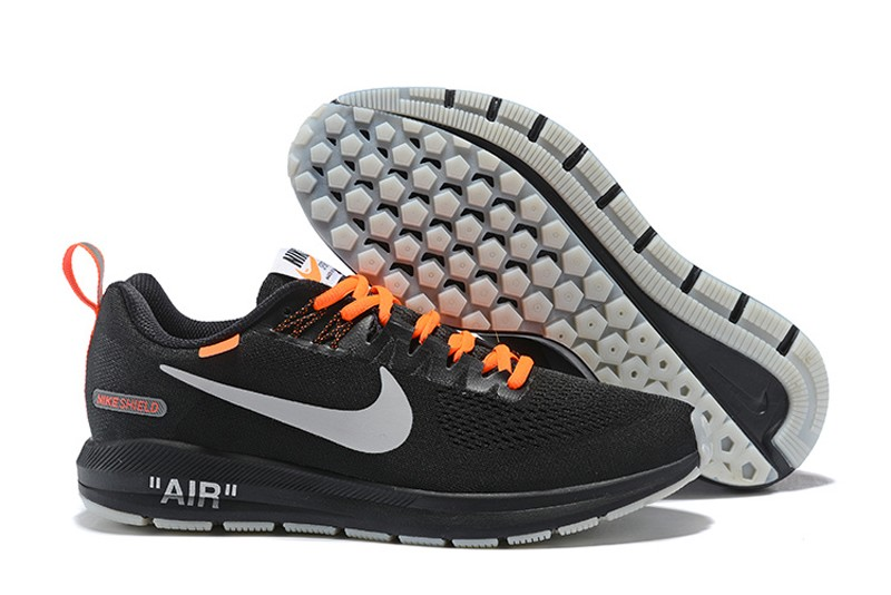59673100408f Off-White x Nike Air Zoom Structure 21 Black Orange Men s Running ...
