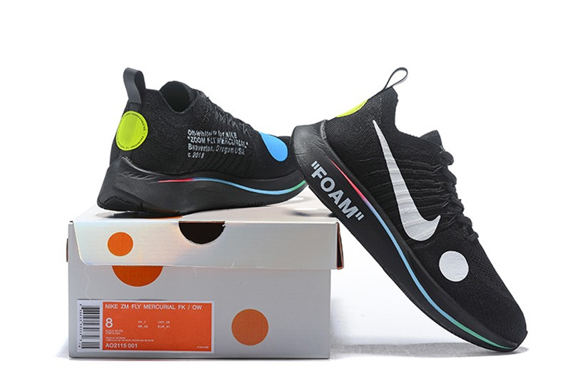 d79a5d3f1e19 Off-White x Nike Zoom Fly Mercurial Flyknit Black/Volt/White Men's ...