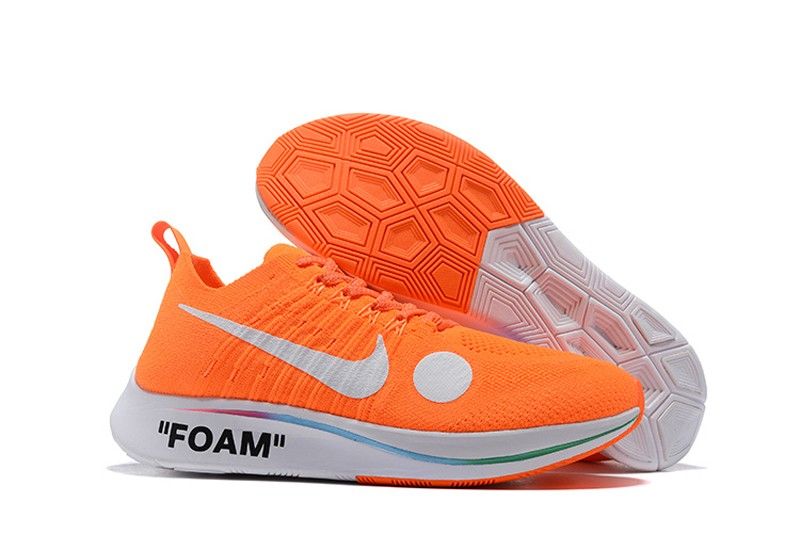 549761c0f5ec Off White x Nike Zoom Fly Mercurial Flyknit Total Orange White-Volt ...