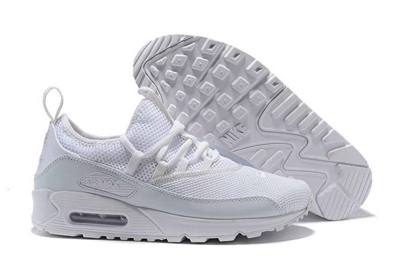 brand new 39487 b22b9 Top Quality Nike Air Max 90 EZ AO1745-100 Men's White-White Fashion Running  Shoes