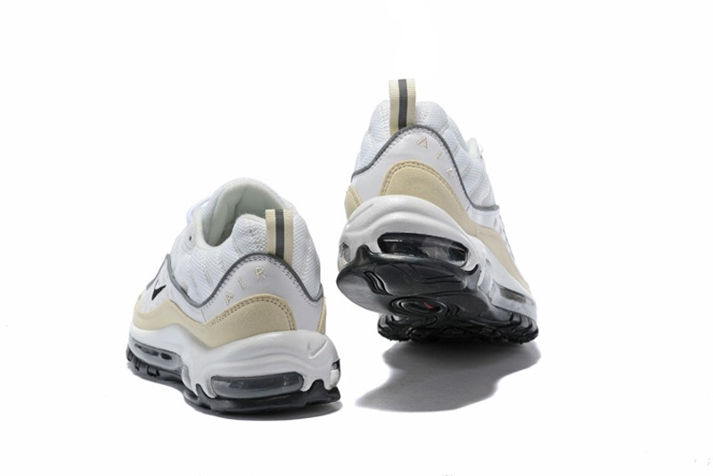 detailed look 94dfe a2135 Top Quality Nike Air Max 98 Fossil White-Black/Silver Neutral Running Shoes  AH6799-102