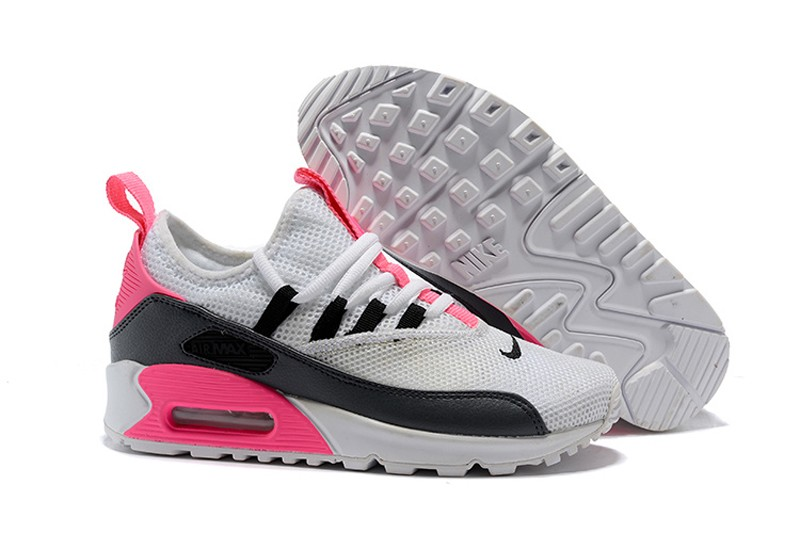 Women s Nike Air Max 90 EZ Grey Black Pink Fashion Running Shoes ... 35223e65b