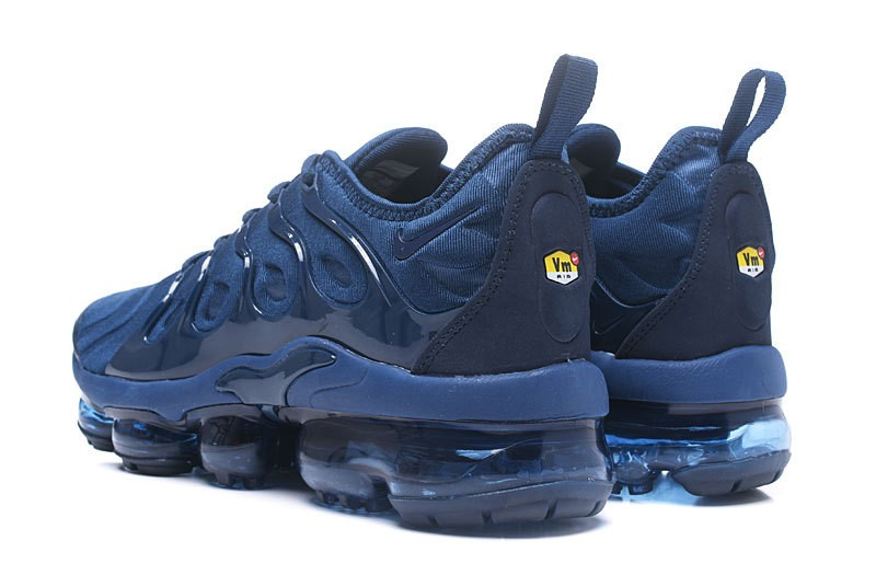 wholesale dealer cafe4 131f7 2018 Most Popular Nike Air Vapormax Plus Tn Dark Blue Men's Athletic  Sneakers In Stock