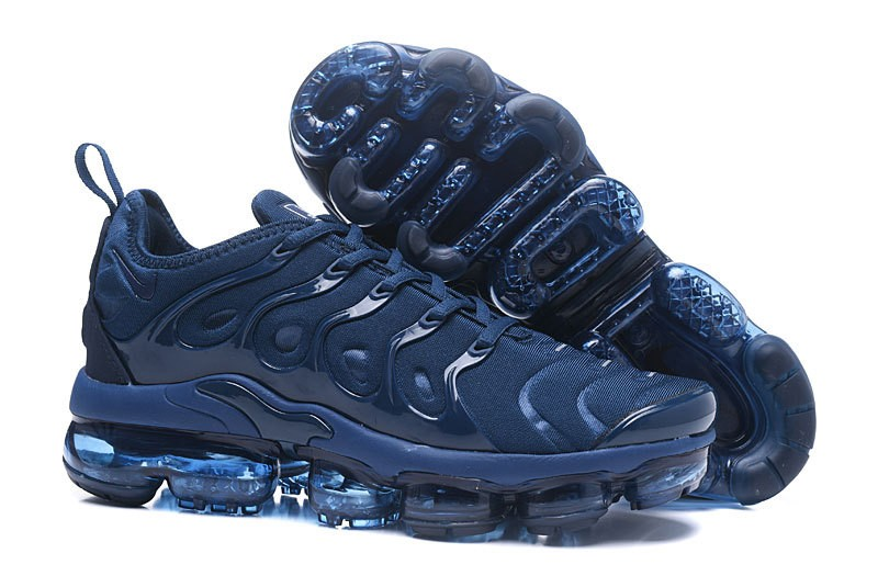 2018 Most Popular Nike Air Vapormax Plus Tn Dark Blue Men s Athletic ... fffa3b573