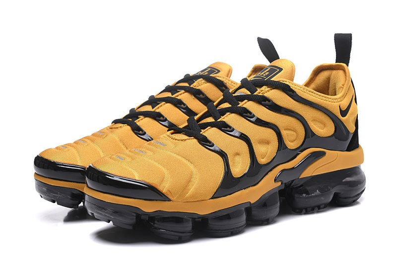 new concept 637ff 83ad5 2018 New Release Nike Air Vapormax Plus Tn Yellow/Black Men's Fashion  Running Shoes