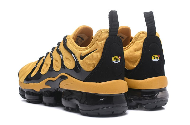 new concept 7ac3f fcc03 2018 New Release Nike Air Vapormax Plus Tn Yellow/Black Men's Fashion  Running Shoes