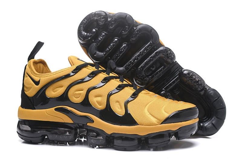 2018 New Release Nike Air Vapormax Plus Tn Yellow Black Men s ... 02ad6887c