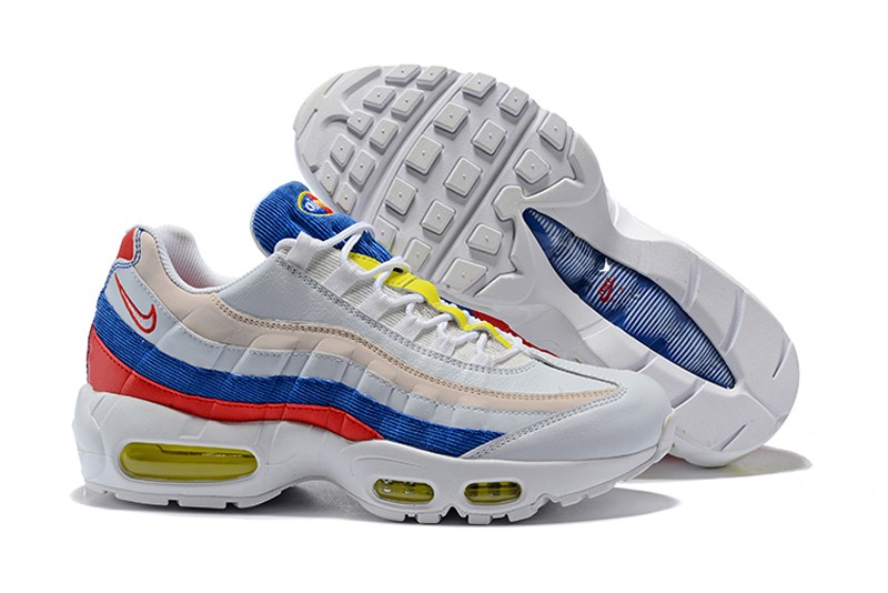 new arrivals be48a 397f8 2018 Nike Air Max 95 Sail/Racer Blue-Arctic Pink-Neon Green Neutral Running  Shoes AQ4138-101