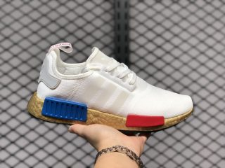 Adidas NMD R1 Cloud White/Lush Red-Lush Blue For Sale FV3642