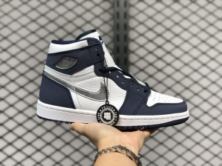 Air Jordan 1 High OG CO.JP White/Midnight Navy-Metallic Silver DC1788-100