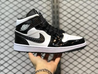 "Air Jordan 1 Mid ""All-Star"" Black/White Basketball Shoes DD1649-001"