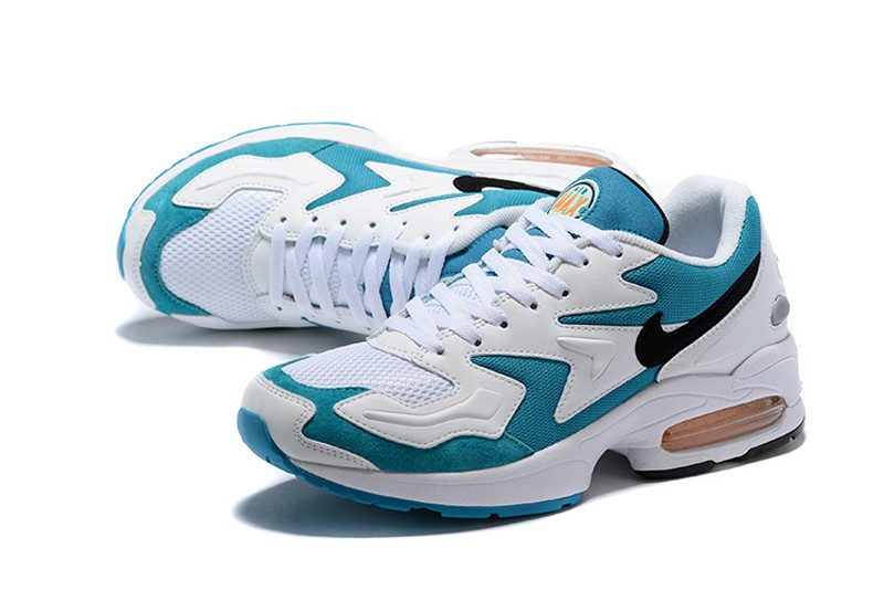 0b2a6a80d Best-Sell-Nike-Air-Max2-Light-104042-101-Mens-White-Black-Glass-Blue-Citrus-Running-Shoes-4.jpg