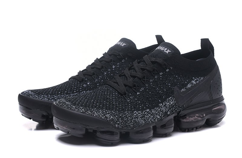 quality design 762fd 3c095 Classic Nike Air VaporMax Flyknit 2.0 Men's-Women's Running Shoes  942843-011 Black/Dark Grey