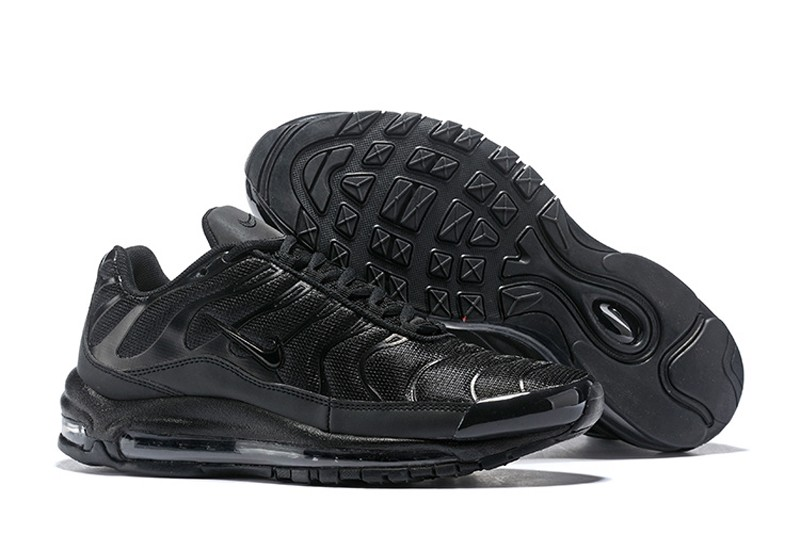 0bd32670a8 Discount Nike Air Max 97 Plus AH8143-001 All Black Men s Cushioning Running  Shoes ...