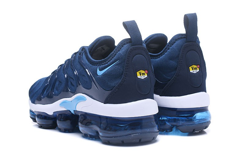low priced b8016 ab8e0 Discount Nike Air Vapormax Plus Tn Men's Navy Blue/White 2018 Newest  Jogging Running Shoes