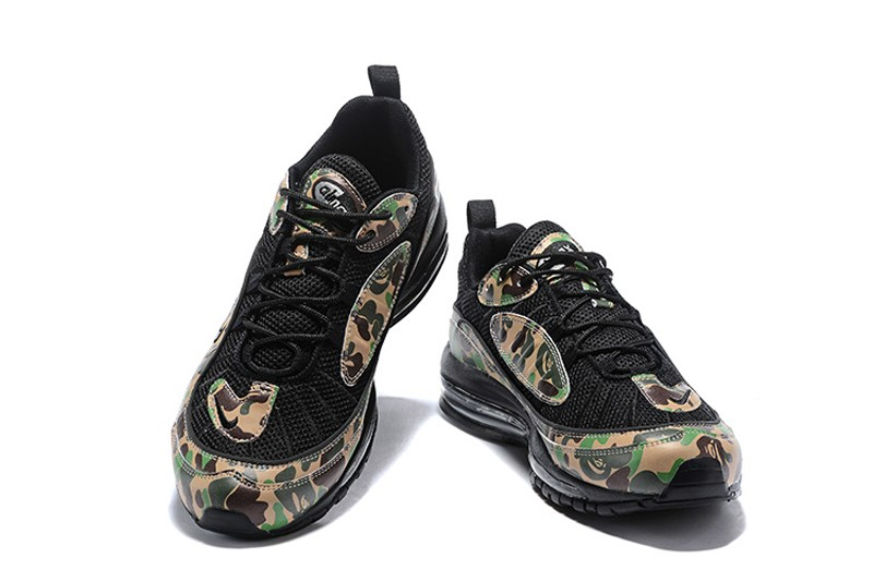 High Quality Nike Air Max 98 BlackGreen Camouflage Men's Sneakers Running Shoes For Sale