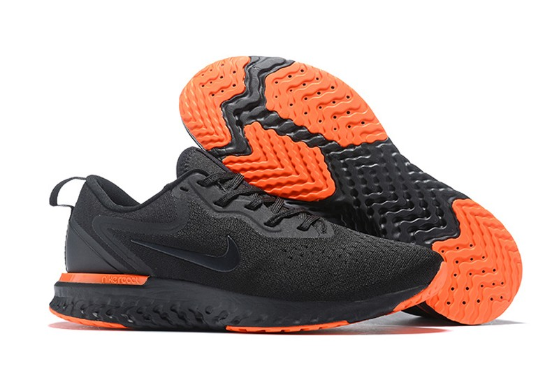 Hot Sale Nike Odyssey React AO9819-008 Black Orange Men s Running ... 8a0143cad